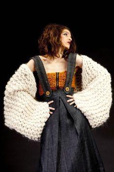 Designer Knitting Style Priscilla Pena for fashion fat yarn click here!: www.thickandfinn.com