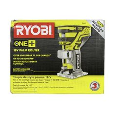 Ryobi P601 18V ONE+ Cordless Lithium-Ion Palm Router, Tool Only
