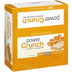 Power Crunch Peanut Butter Creme Filled Wafer Protein Energy Bars, 16.8 oz