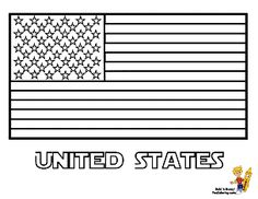 us flag coloring pages - Us Flag Coloring Page