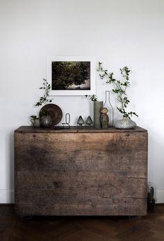 Slagbord som sideboard via Daniella Witte – Husligheter