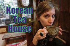 Traditional Korean Tea House 찻집 drinking Ginger 생강차 & Plum 매실차 tea 차 in ...