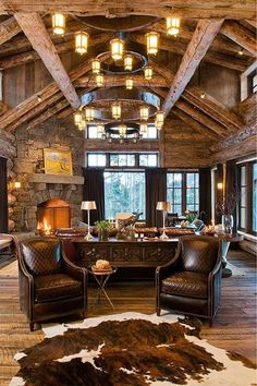 8 Awesome Tricks: Rustic Porch Home Plans rustic house in the woods.Rustic Home Wall rustic house in the woods.Rustic House In The Woods. Style At Home, Western Living Rooms, Country Living, Living Area, Western Homes, Rustic Homes, Rustic Farmhouse, Rustic Wood, Rustic Chair