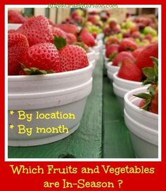 Which Fruits and Vegetables are Peaking In-season? (By month and location.)  Plus, Find the Farmer's Markets near YOU!   By www.AuNaturaleNutrition.com