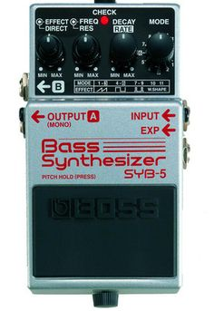 Bass players will love this compact Bass synth! The Boss SYB-3 Bass Synthesizer was the world's first bass synthesizer to be packed into a compact pedal, and it found favor with experimentalists and