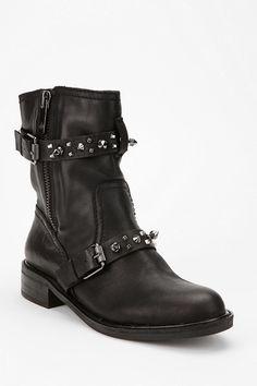 4ca0712aebbfe Sam Edelman Adele Spike-Strap Moto Boot Moto Boots