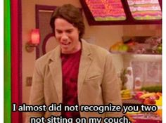 """Spencer is hilarious. lol """"I almost did not recognize you two not sitting on my couch."""" XD"""