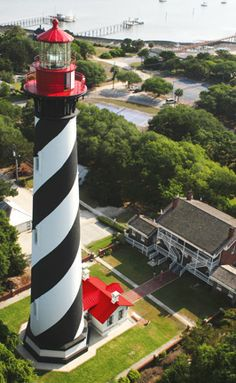 St. Augustine, Florida    Been up in this light house. Makes me tired just remembering all those steps. lol Florida Travel, Florida Usa, Jacksonville Florida, Fl Usa, Central Florida, Anastasia Island, Haunted Places, Spooky Places, St Augustine Lighthouse