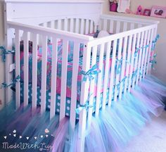 Custom Tulle Tutu Crib Skirt by MadeWithLuvBowtique on Etsy https://www.etsy.com/listing/232183057/custom-tulle-tutu-crib-skirt