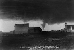 Clinton Johnson, Tornado in North Dakota, Library of Congress, 1895 Natural Phenomena, Natural Disasters, Tornado Chasers, Lise Sarfati, Path Of Destruction, Tornado Alley, Ponca City, Southern Methodist University, Wild Weather