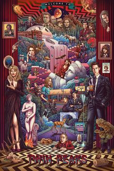 Twin Peaks by Ise Ananphada - Home of the Alternative Movie Poster -AMP- Twin Peaks Poster, Twin Peaks 1990, David Lynch Twin Peaks, Twin Peaks Characters, Movies And Series, Tv Series, Screen Print Poster, Alternative Movie Posters, Inspirational Posters