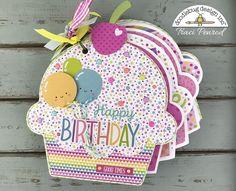 Doodlebug Design Inc Blog: Fairy Tales Collection: Cupcake Shaped Mini Album by Traci Penrod