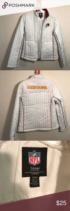 Go 'Skins!  Keep warm at a game, fans! Puffy Redskins Coat. Worn once. Official NFL gear. Size small. NFL Jackets & Coats Puffers