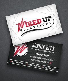 ELECTRICIAN LOGO MODERN BUSINESS CARD IN GRAY | Business Cards for ...