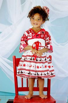 Christmas Dress for Toddlers and Little Girls by PinkMouseKids, $49.00 #kids #kidsfashion