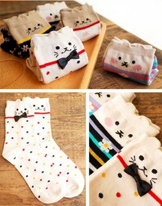 Cat Socks with Ears Christmas Stockings, Christmas Gifts, Normal Person, Vintage Makeup, Knee High Socks, Cotton Socks, Cat Lady, Kids And Parenting, Cat Lovers