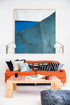 23 Living Rooms With Bold Orange Sofas Messagenote.com From an airy Sausalito studio the Serena and Lily creative team turns artistic concepts into commercial products.