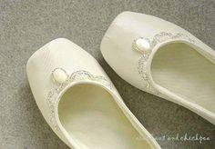 wedding shoes flats | elephant and chickpea: wedding ballet flat house shoes