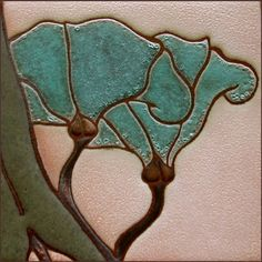 Great designs in Art Nouveau and Arts & Crafts inspired handmade cement tile by Bosetti Art Tile