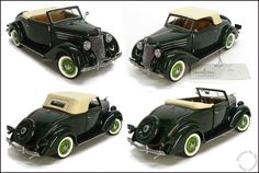 1936 Ford Deluxe Cabriolet by Franklin Mint, 1:24 Die Cast Car, New In Box! #FranklinMint #Ford