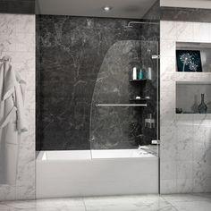 DreamLine Aqua Uno 34x 58-inch Single Panel Hinged Tub Door - Overstock Shopping - Big Discounts on DreamLine Shower Doors