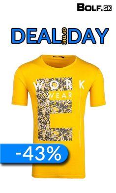 Tričko v žiarivej žltej teraz so zľavou - 43% :)