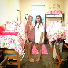 Lilly Pulitzer dorm room