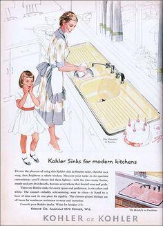 Image result for vintage kohler sink ads