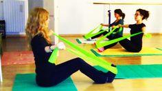 #Pilates esercizio con elastico 1  Resistance Band Exercise 1