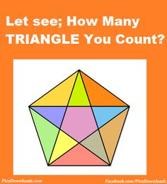 Maths Picture Puzzles - CountTrianglesInDiagram