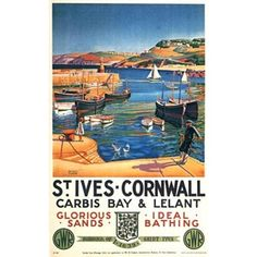 Summer in St Ives. Poster by Herbert Truman