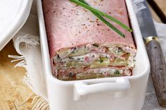 Ham Terrine Recipe with Goat and Potato: The Easy Recipe - Recipes Easy & Healthy No Cook Meals, Hummus, Food Inspiration, Love Food, Cooking Time, Food Porn, Easy Meals, Food And Drink, Favorite Recipes