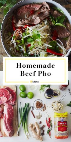How To Make the Best Beef Pho at Home - Health Center Beef Recipes, Soup Recipes, Cooking Recipes, Healthy Recipes, Pho Soup Recipe Easy, Beef Ramen Broth Recipe, Instant Pot Pho Recipe, Vietnamese Pho Soup Recipe, Pho Beef