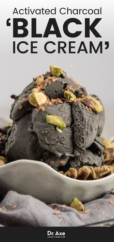 Activated charcoal is a terrific, natural way to rid your body of toxins. One of my new favorite ways to ingest activated charcoal is through ice cream. That's right, black ice cream is a thing; it tastes good, and it's good for you!
