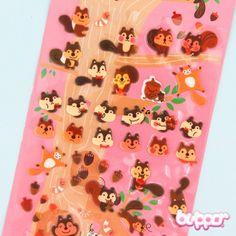 Funny Sticker World Balloon Stickers - Squirrel