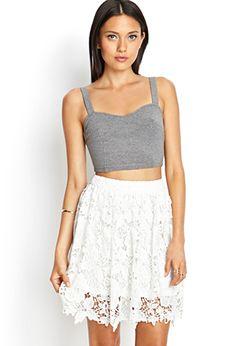 Crochet Lace A-Line Skirt   FOREVER 21 - 2000067136