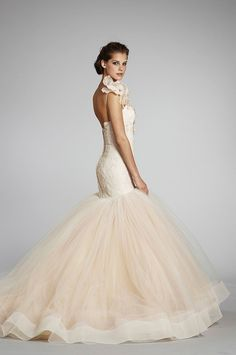 I simply ADORE this mermaid gown! Beautiful one shoulder and a ball gown bottom in a mermaid gown style!!!!!