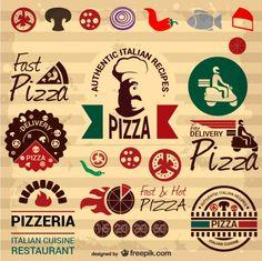 pizza vintage - Pesquisa Google Pizzeria Menu, Pizzeria Design, Pizza Logo, Pizza Box Design, Pizza Quotes, Etiquette Vintage, Pizza Planet, Flyer Layout, Love Pizza