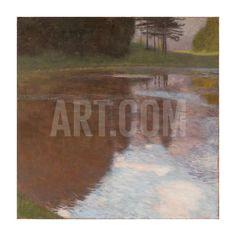 Tranquil Pond Giclee Print by Gustav Klimt at Art.com