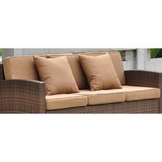 Sectional Sofas Small Replacement Sofa Cushion Set With Piping Canvas Cocoa Patio Pinterest Canvases Cushions and Cocoa