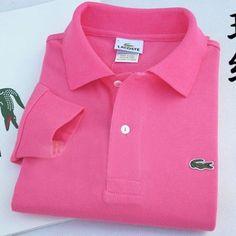 Lacoste Polo Long Sleeve Classic Shirt Rose    #CheapLacoste #CheapLacosteLongSleeve #Polos #LacostePolos #LacostePoloShirts #StylishLacosteShirts #LacosteForCheap