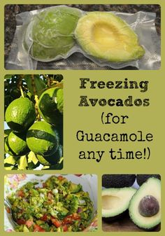 We love avocados, but they can be expensive. So, we buy lots when they're on sale, & vacuum pack them for freezing. That way, you can have avocados anytime!