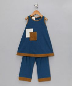 Take a look at this Blue Sky Romper Dress & Trousers  by Kids Organic on #zulily today!