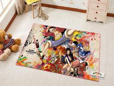 One Piece Carpet One Piece Merchandise, Anime Merchandise, 2016 Anime, Otaku Room, Anime One, Anime People, Character Modeling, Carpet Design, Floor Decor
