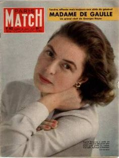 Ingrid Bergman: This lovely portrait was taken in the year, for Paris Match magazine. Bergman was still quite the classic beauty, as Cecil Beaton's work here will attest. Ingrid Bergman, Casablanca 1942, Classy People, Gaulle, Cecil Beaton, Paris Match, Academy Award Winners, Humphrey Bogart, Great Films