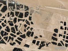 A satellite shot of the world's largest tire graveyard in Sulaibiya, Kuwait, also made the...