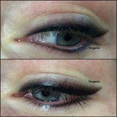 ' Smokey eyeliner ' eski ve kötüleşmiş kalıcı makyaj düzeltilmesi yapılmıştır. Permanent make up correction- Makyaj stilleri- kalıcı makyaj modası- biotek türkiye- Yevgenia Aytaş - yevgenia academy-
