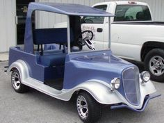 Classic Car Golf Cart Body Kit~ Funny Golf, Golf Humor, Golf Cart Body Kits, Golf Cart Bodies, Custom Golf Carts, Classic Cars, Golf Carts, Vintage Classic Cars, Classic Trucks