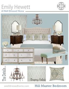 Master Bedroom-starting to love this color scheme! It's light & airy!