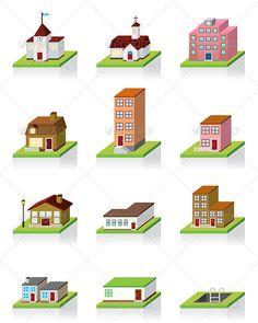 Building Icon -- 3D Illustration #GraphicRiver Building Icon - 3D…